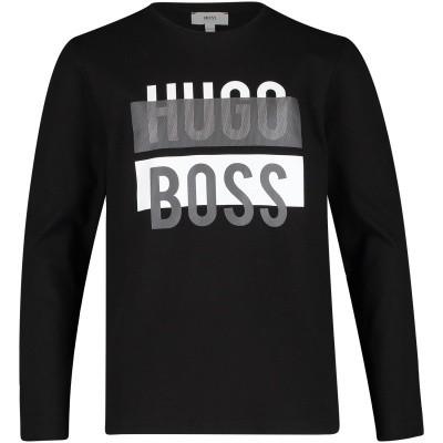 Afbeelding van Boss J25D05 kinder t-shirt zwart