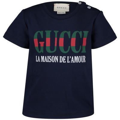 Afbeelding van Gucci 526659 baby t-shirt navy