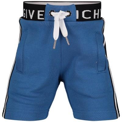 Afbeelding van Givenchy H04047 Joggingshorts blauw