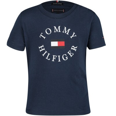 Picture of Tommy Hilfiger KB0KB04676 B baby shirt navy