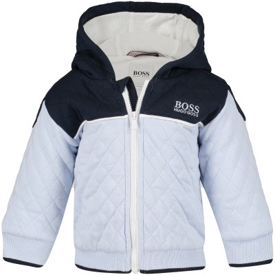 Picture of Boss J96074 baby coat light blue