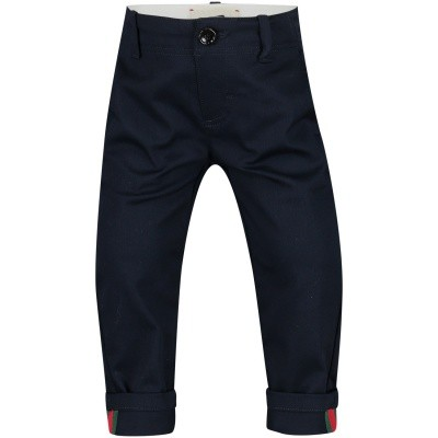 Picture of Gucci 475408 baby pants blue