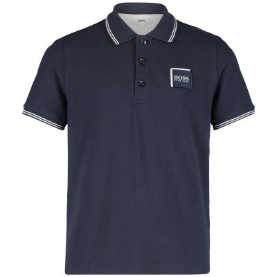 Picture of Boss J25D53 kids polo shirt navy