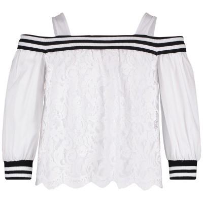 Picture of MonnaLisa 493300 kids t-shirt white