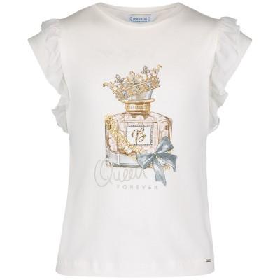 Afbeelding van Mayoral 3007 kinder t-shirt ecru