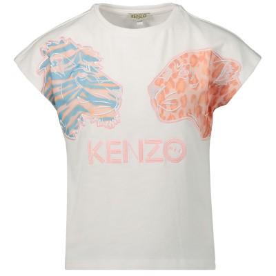 Afbeelding van Kenzo KN10218 kinder t-shirt wit