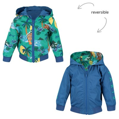 Picture of Kenzo KN42507 baby coat blue