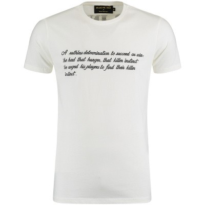 Afbeelding van in Gold We Trust FA071 heren t-shirt off white