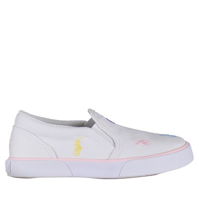 Picture of Ralph Lauren RF101069 kids sneakers white