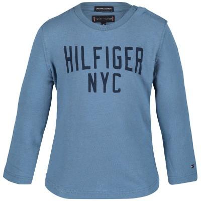 Picture of Tommy Hilfiger KB0KB04534B baby shirt light blue