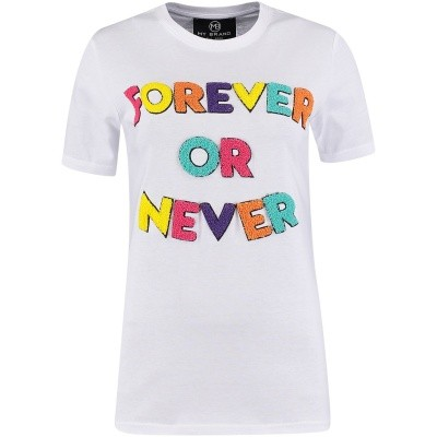 Afbeelding van My Brand WMBTS074GM011 dames t-shirt wit