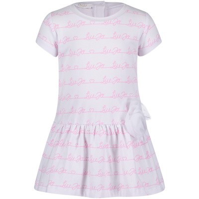 Picture of Liu Jo H19075 baby dress pink