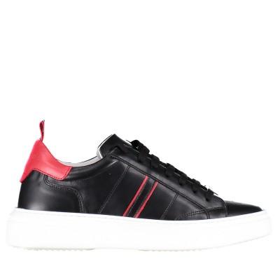 Picture of Antony Morato MMFW01123 mens sneakers black