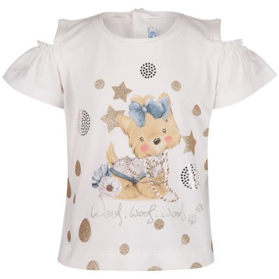 Picture of Mayoral 1007 baby shirt gold