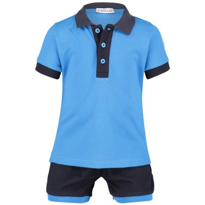 Picture of Moncler 8812350 baby set turquoise