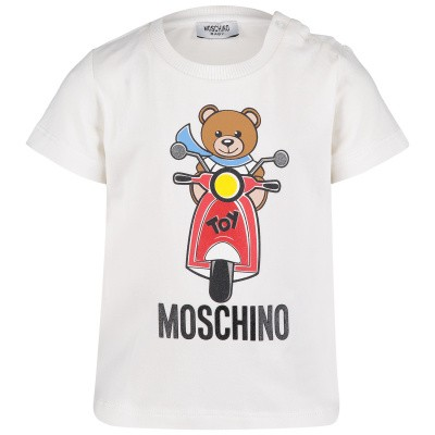 Picture of Moschino MSM01H baby shirt off white