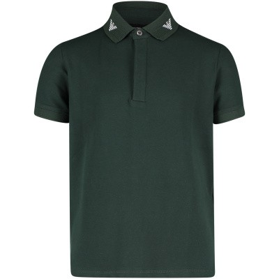 Picture of Armani 3G4F62 kids polo shirt dark green