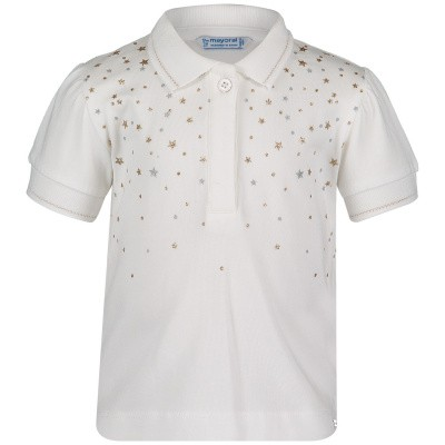 Picture of Mayoral 1108 baby poloshirt white