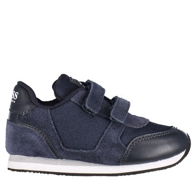 Picture of Boss J09E05 kids sneakers navy