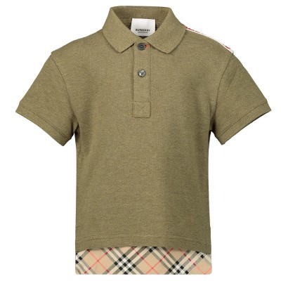ce43e3a0d92 Picture of Burberry 8011448 kids polo shirt army