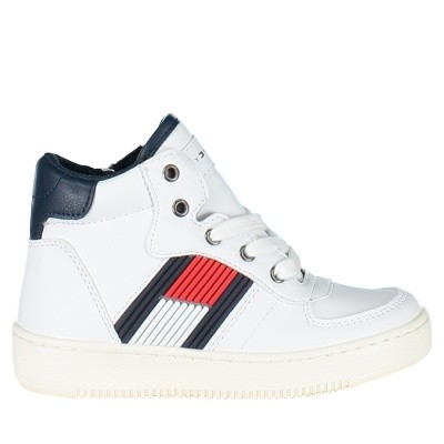 Picture of Tommy Hilfiger T3B430095 kids sneakers white