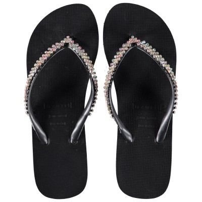 Afbeelding van UZURII COLORFUL CLASSIC MID dames slippers zwart