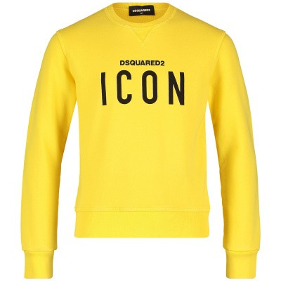 Picture of Dsquared2 DQ02N3 kids sweater yellow