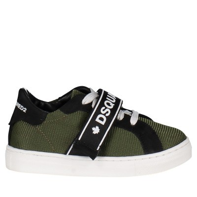 Picture of Dsquared2 59700 kids sneakers army