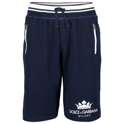 Picture of Dolce & Gabbana L4JQE0 kids shorts navy