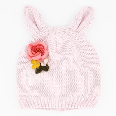 Afbeelding van MonnaLisa 394003 babymutsje licht roze