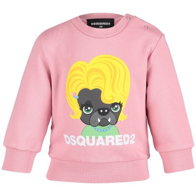 Picture of Dsquared2 DQ03EA baby sweater light pink