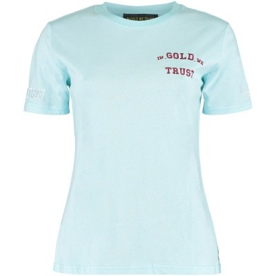 Afbeelding van in Gold We Trust FAW001 dames t-shirt licht blauw