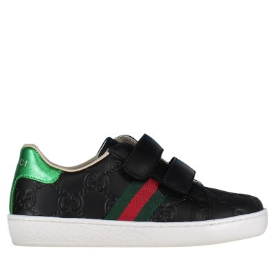 Picture of Gucci 455447 DF720 kids sneakers black