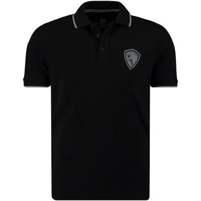 Afbeelding van My Brand MMBPO009G3028 heren polo zwart