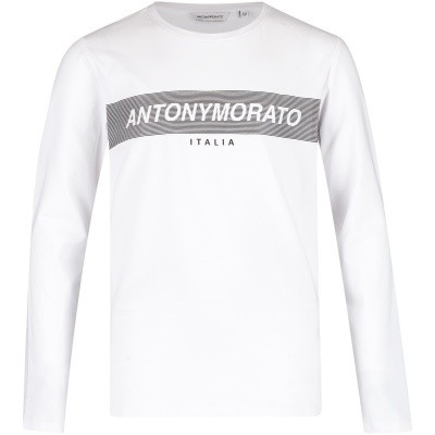 Afbeelding van Antony Morato MKKL00176 kinder t-shirt wit