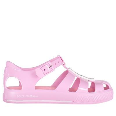 Picture of Dolce & Gabbana DN0115 kids sandals light pink