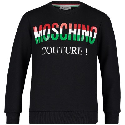 Picture of Moschino HUF02T kids sweater black