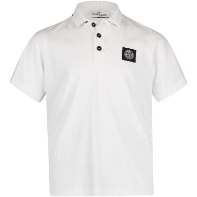 Picture of Stone Island 701620247 kids polo shirt white