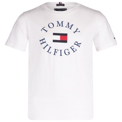 Picture of Tommy Hilfiger KB0KB04676 kids t-shirt white