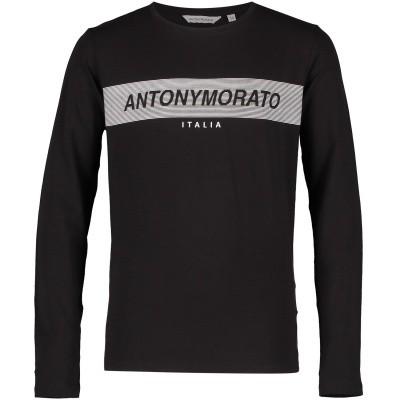 Afbeelding van Antony Morato MKKL00176 kinder t-shirt zwart