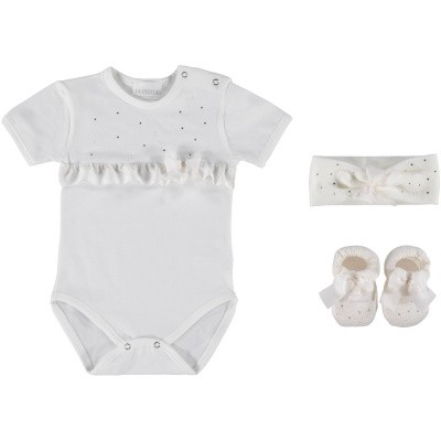 Afbeelding van La Perla 48650 babysetje off white