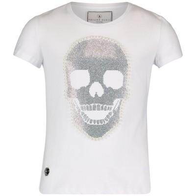 Picture of Philipp Plein GTK0358 kids t-shirt white