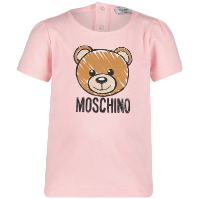 Picture of Moschino MDM02C baby shirt light pink