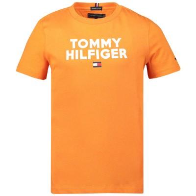 Afbeelding van Tommy Hilfiger KB0KB04992 kinder t-shirt oranje