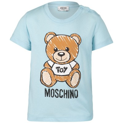 Picture of Moschino MXM01N baby shirt light blue