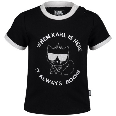 Picture of Karl Lagerfeld Z95046 baby shirt black