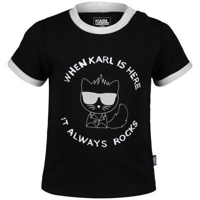 Afbeelding van Karl Lagerfeld Z95046 baby t-shirt zwart