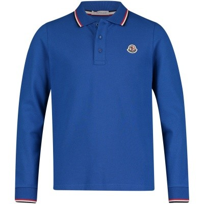Picture of Moncler 8305505 kids polo shirt cobalt blue