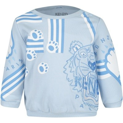 Picture of Kenzo KM15513 baby sweater light blue