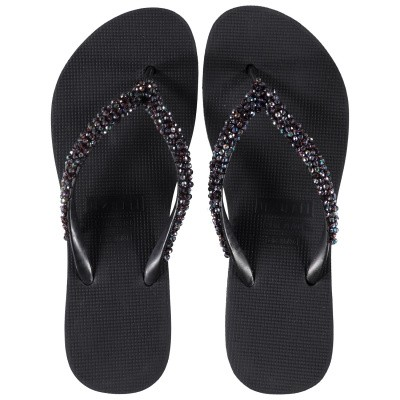 Afbeelding van UZURII PRECIOUS CLASSIC BLACK dames slippers zwart
